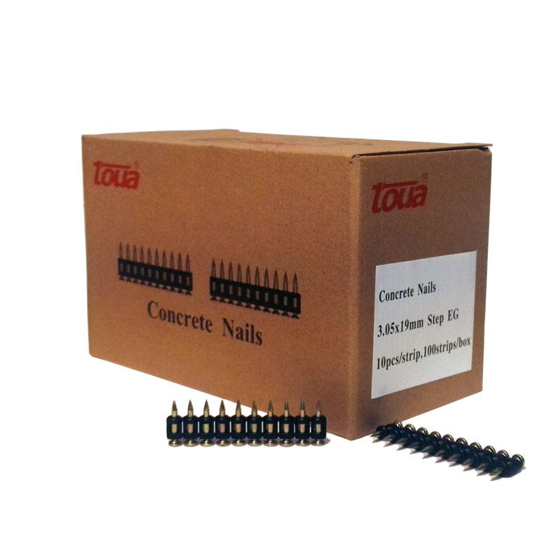 Усиленные дюбель-гвозди по бетону, металлу, кирпичу тип CN 19 упаковка 1000 шт.