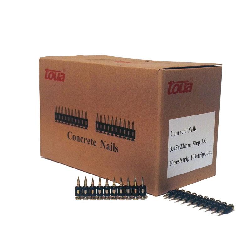 Усиленные дюбель-гвозди по бетону, металлу, кирпичу тип CN 22 упаковка 1000 шт.