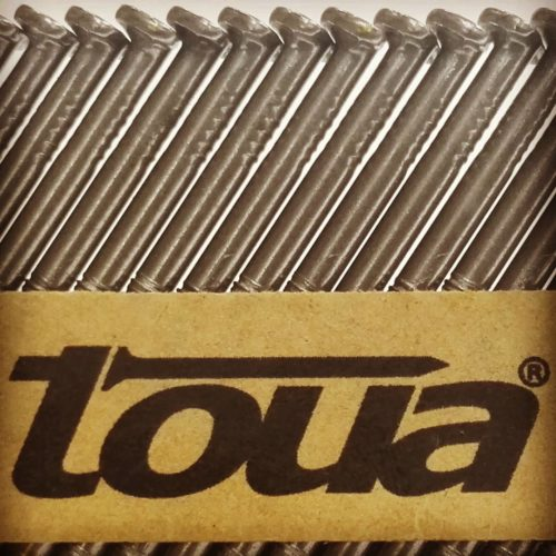 Реечные гвозди 34° 2,87×63мм ершеные без покрытия Toua