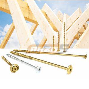 Строительные саморезы и винты для деревянных конструкций